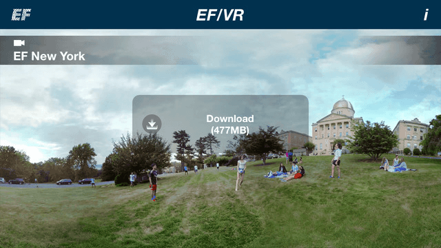 EFVR Virtual Reality Tours of the EF International Language Centers