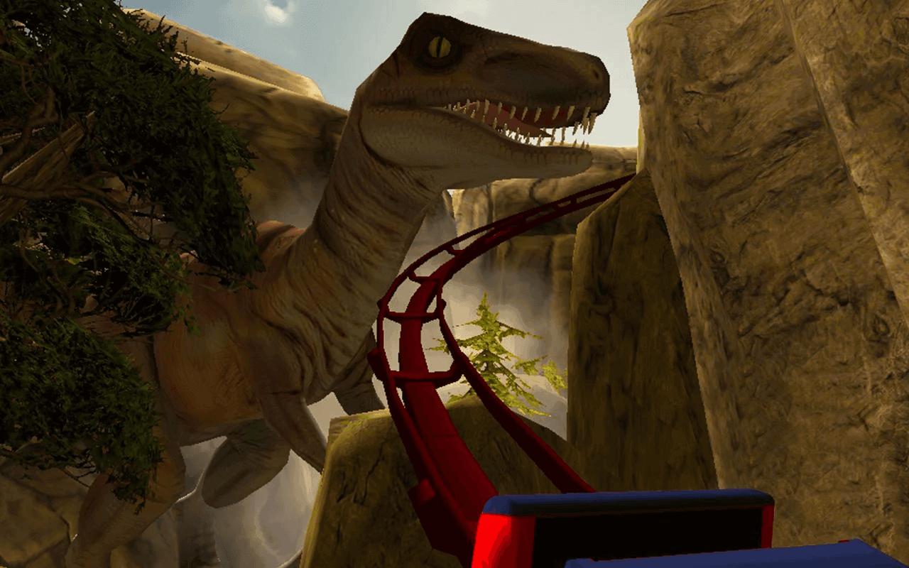 Real Dinosaur RollerCoaster VR4