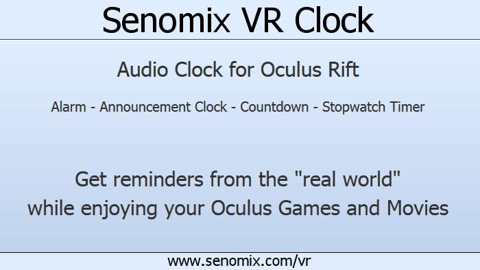 Senomix VR Clock