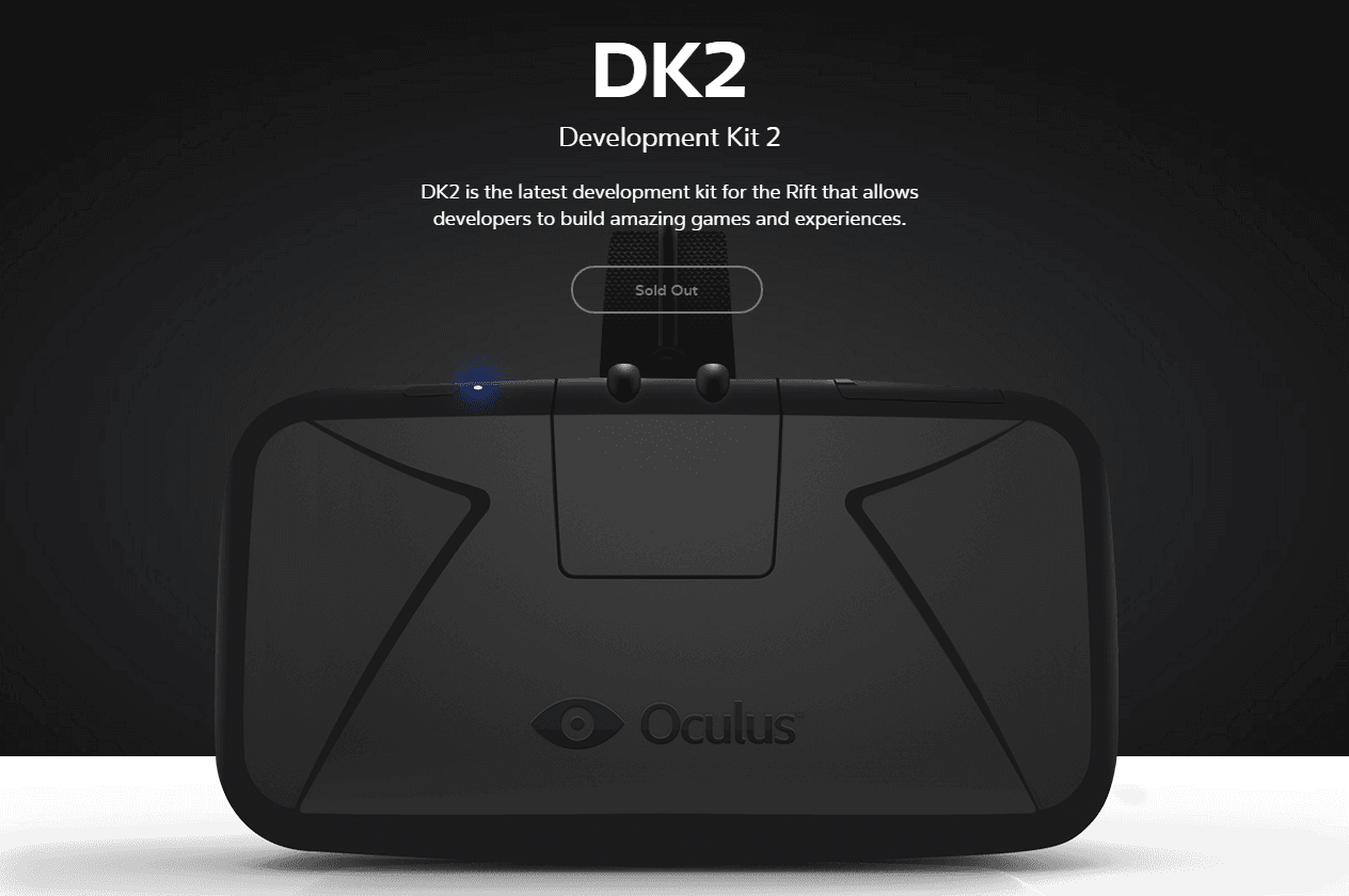 Oculus Rift DK2 is sold out