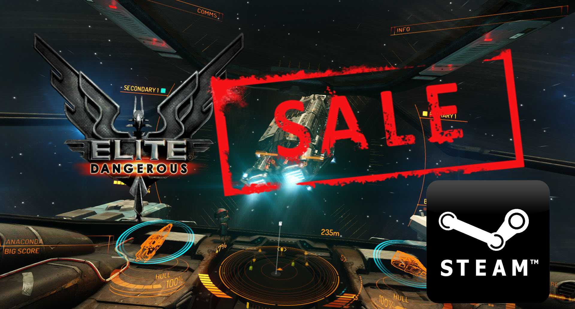 Elite: Dangerous on Sale! Only 12,37 on Steam!