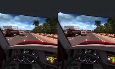 American truck simulator Oculus Rift VR