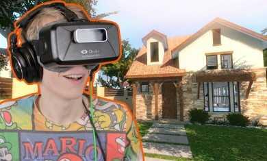 EXPENSIVE HOUSE TOUR IN VR! | Charette VR Tour (Oculus Rift DK2)