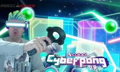 Cyber Pong VR: classic game meets VR in a new and funky way!