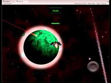 Cardboard 3D VR Space FPS game