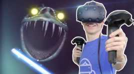 Nathie is Fighting a Huge Scary Monster in VR!