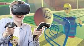 SOCCER SHIELD MULTIPLAYER! | Rec Room VR (HTC Vive Gameplay)