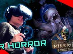 Intense VR Horror Game!  Ghost Town Mine Ride & Shooting Gallery